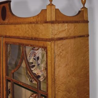 A 19th Century Birdseye Maple Display Bookcase.