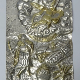 Antique Spanish Silver Wall Plaque