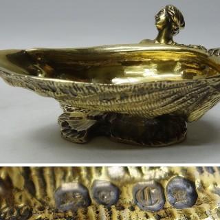 Antique Silver Salt – Novelty Mermaid