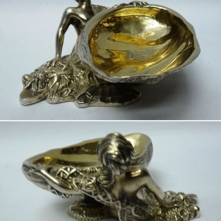 Antique Silver Salts – Novelty Mermaid