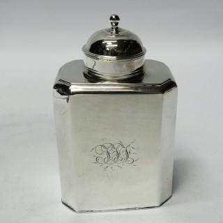 Antique Queen Anne Silver Tea Caddy