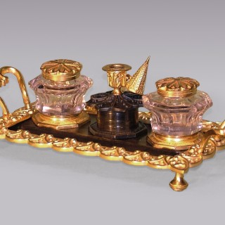 19th Century Gothic style bronze & ormolu Pentray.