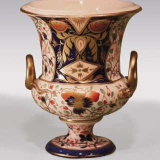 A 19th Century 'Imari' pattern Derby porcelain campana-shaped Vase.