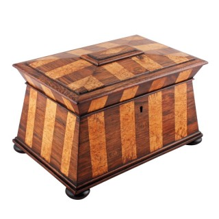 Rosewood & Karellian Birch Tea Caddy