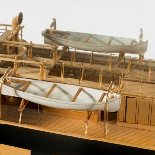 Museum quality shipbuilder's mirror backed model