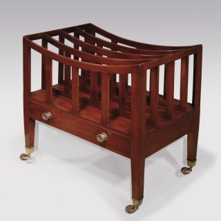 A Regency period mahogany 4-section Canterbury.