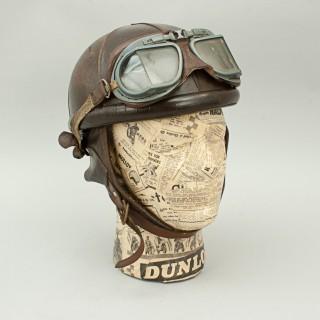 All Leather Motorcycle Helmet