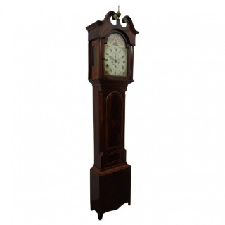 Victorian Inlaid Mahogany Longcase Clock by John Courage of Insch