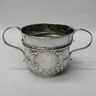 Antique Queen Anne Silver Porringer