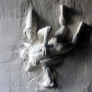 Beth Carter; Fighting Clowns I; Plaster Relief; Pre-Edition