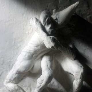Beth Carter; Fighting Clowns II; Plaster Relief; Pre-Edition