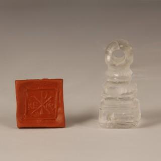 Byzantine Rock Crystal Chi-Rho Seal