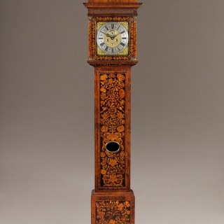 "Stephen RAYNER, London, 12"" marquetry 8-day hour-striking longcase clock, circa 1700"