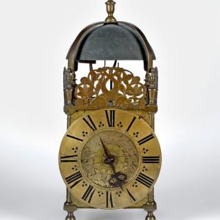 Ignatius. HUGGEFORD, a third period lantern clock c.1690
