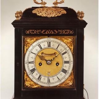 John GORDIN, London, William III period ebony striking bracket clock