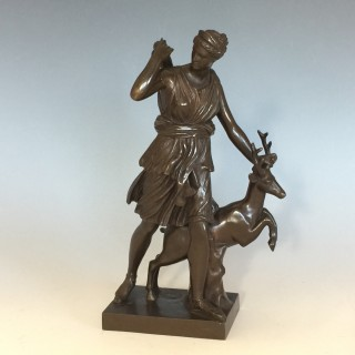 French Bronze diane the Huntress cast by F Barbedienne