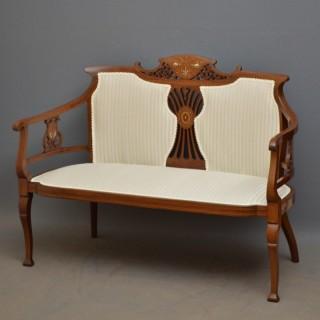 Edwardian Mahogany Sofa