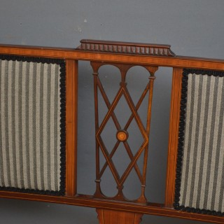 Edwardian Mahogany and Inlaid Settee
