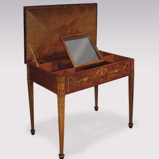 A rare 18th Century harewood Dressing Table.
