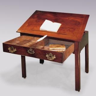 Antique mid 18th Century mahogany Architects Table.