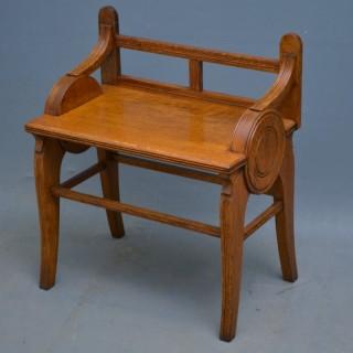 Stylish Arts and Craft Oak Hall Bench