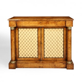 A 19TH CENTURY FRENCH BURR ELM SIDE CABINET