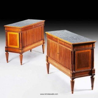 A FINE PAIR OF ITALIAN NEO CLASSICAL CABINETS