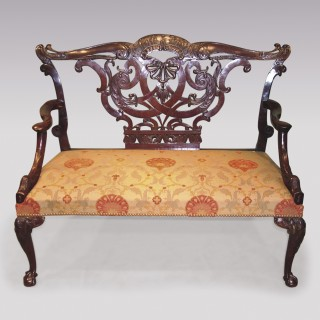 18th Century Mahogany 2-person Settee.