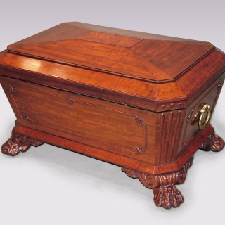 Antique Regency period mahogany sarcophagus Wine Cooler.