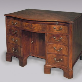 18th Century mahogany kneehole Dressing Chest.