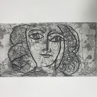 Tete de femme de face (Large)  /  Portrait of Francois Gillot