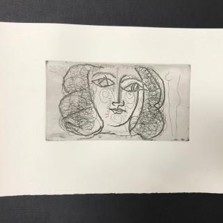 Tete de femme de face (Small))  / Portrait of Francois Gillot