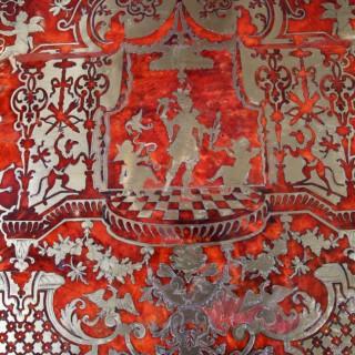 FINE RED TORTOISESHELL BOULLE DESK