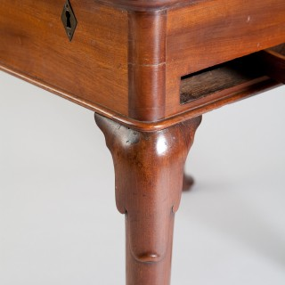 GEORGE II MAHOGANY CAMPAIGN ENVELOPE WRITING TABLE