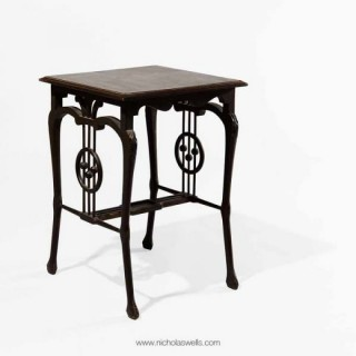 INDIAN ART NOUVEAU MUSIC ROOM TABLE – CALCUTTA SCHOOL