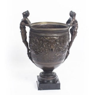 Antique Grand Tour Barbedienne style Bronze Urn 19th C