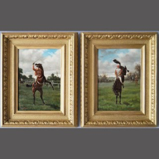 Horse Rearing & Horse Bucking, Pair