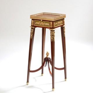 NAPOLEON III ORMOLU MOUNTED KETTLE STAND END TABLE