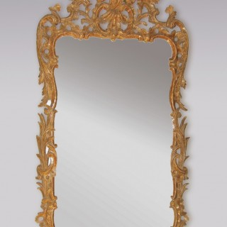 Antique mid 18th Century Chippendale period giltwood Mirror.