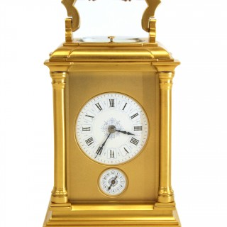 Gilded Striking Repeating Alarm Carriage clock
