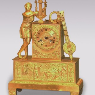 Early 19th Century French ormolu Clock with Orpheus.