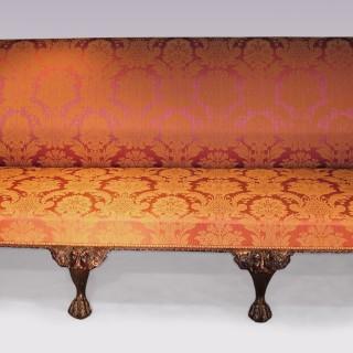 A George II revival mahogany Settee.