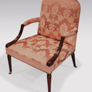 A mid 18th Century mahogany Gainsborough Chair.