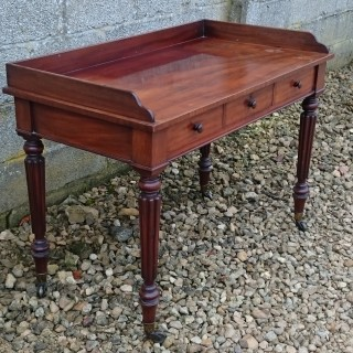 Early 19th Century Regency Mahogany Antique Serving Table / Side Table / Dressing Table Attributed To Gillow