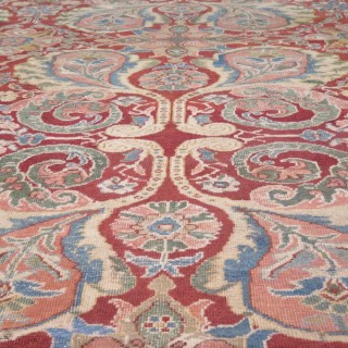 Antique Mahal carpet from Persia dating circa 1890