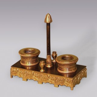 An early 19th Century bronze and ormolu Pentray.