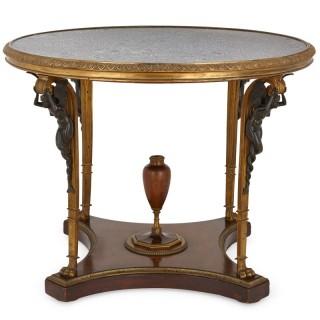 Empire style circular centre table by Zwiener Jansen Successeur