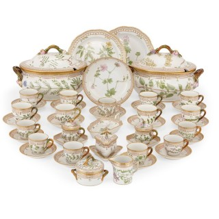 Antique 'Flora Danica' porcelain dinner service, by Royal Copenhagen