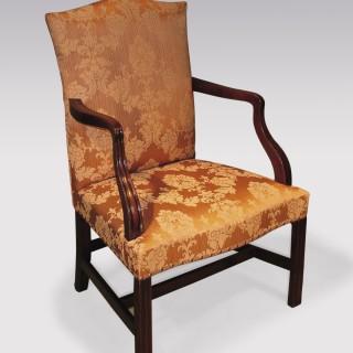 Mid 18th Century mahogany Gainsborough Armchair.
