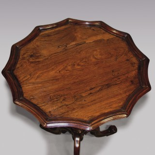 An Antique 19th Century Rosewood Tripod Table.